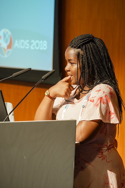 22nd International AIDS Conference (AIDS 2018) Amsterdam, Netherlands.   Copyright: Matthijs Immink/IAS  Young people at the centre: Community mobilization for youth-friendly HIV services  On the photo:  Mercy Ngulube