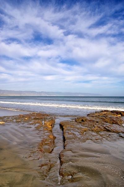 Beach landscape. Drakes Beach, California Coast. ref: 518bd864-1db1-4b12-8f2b-539fa34d8c98