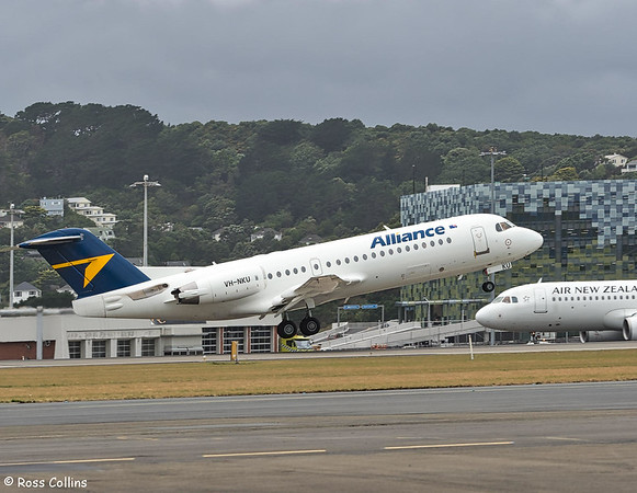 Alliance Airlines F70s at Wellington 2019