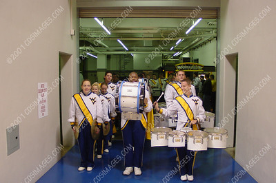 WVU Drumline at Men's Basketball Game