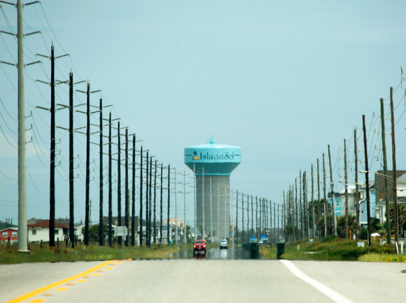 The road from Freeport to Galveston, TX