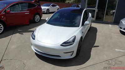 Tesla Model 3 - Pearl White Multi-Coat XPEL Stealth