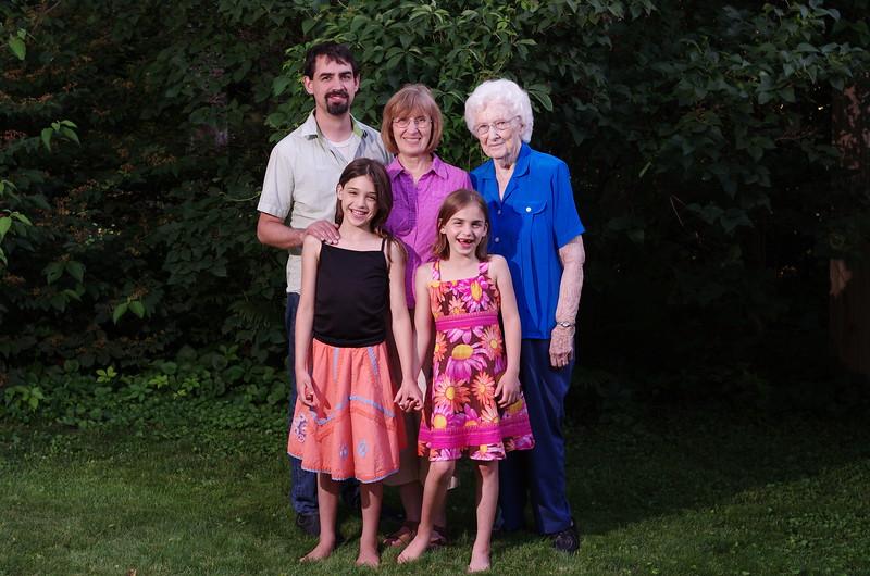 Four generations portrait, #2.