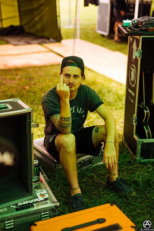 Kamron Bradbury of Beartooth at Vans Warped Tour 2015 by Adam Elmakias