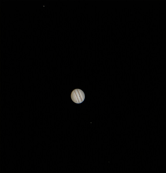 Jupiter and 4 Moons - 30/11/2013 (Reprocessed stack)