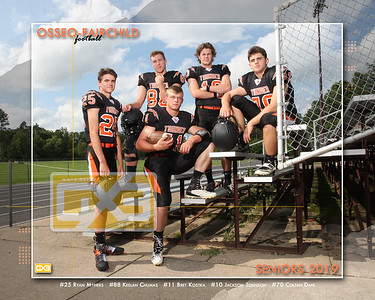 Osseo-Fairchild football seniors FB19