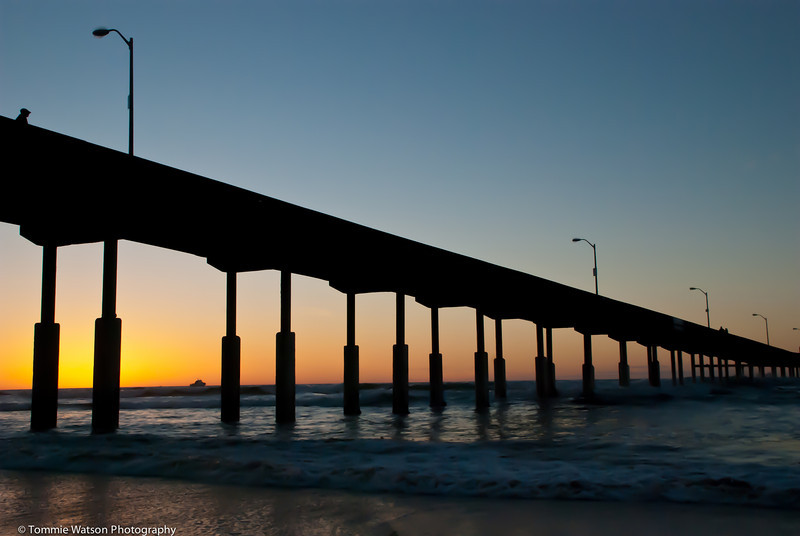 After Glow at OB Pier  |  2011  Ocean Beach  |  San Diego, CA