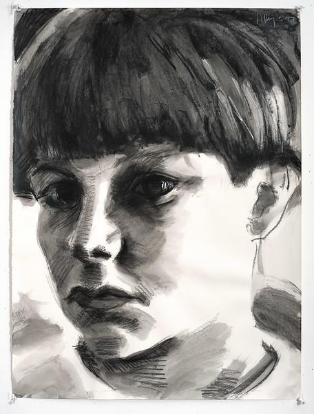 Portrait study - John; charcoal, 22 x 30 in, 1997