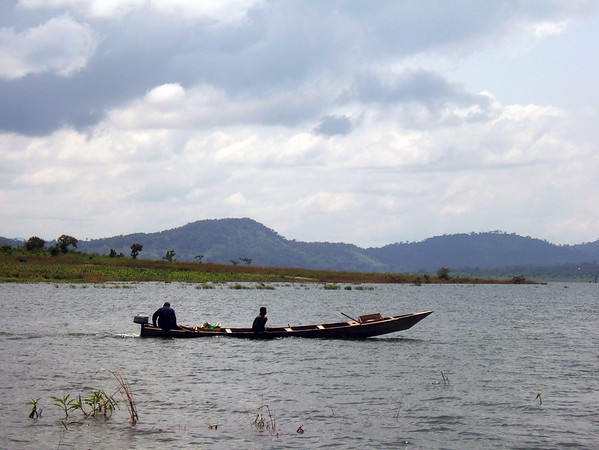 Boat on Lake Volta, Ghana