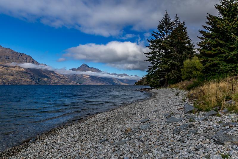 Blick vom «Lake Wakatipu» Richtung «Mount Turnbull»