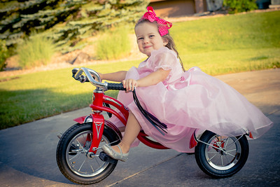 Princess on a bike