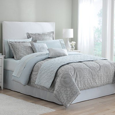 Aqua Scroll Bedding Collection
