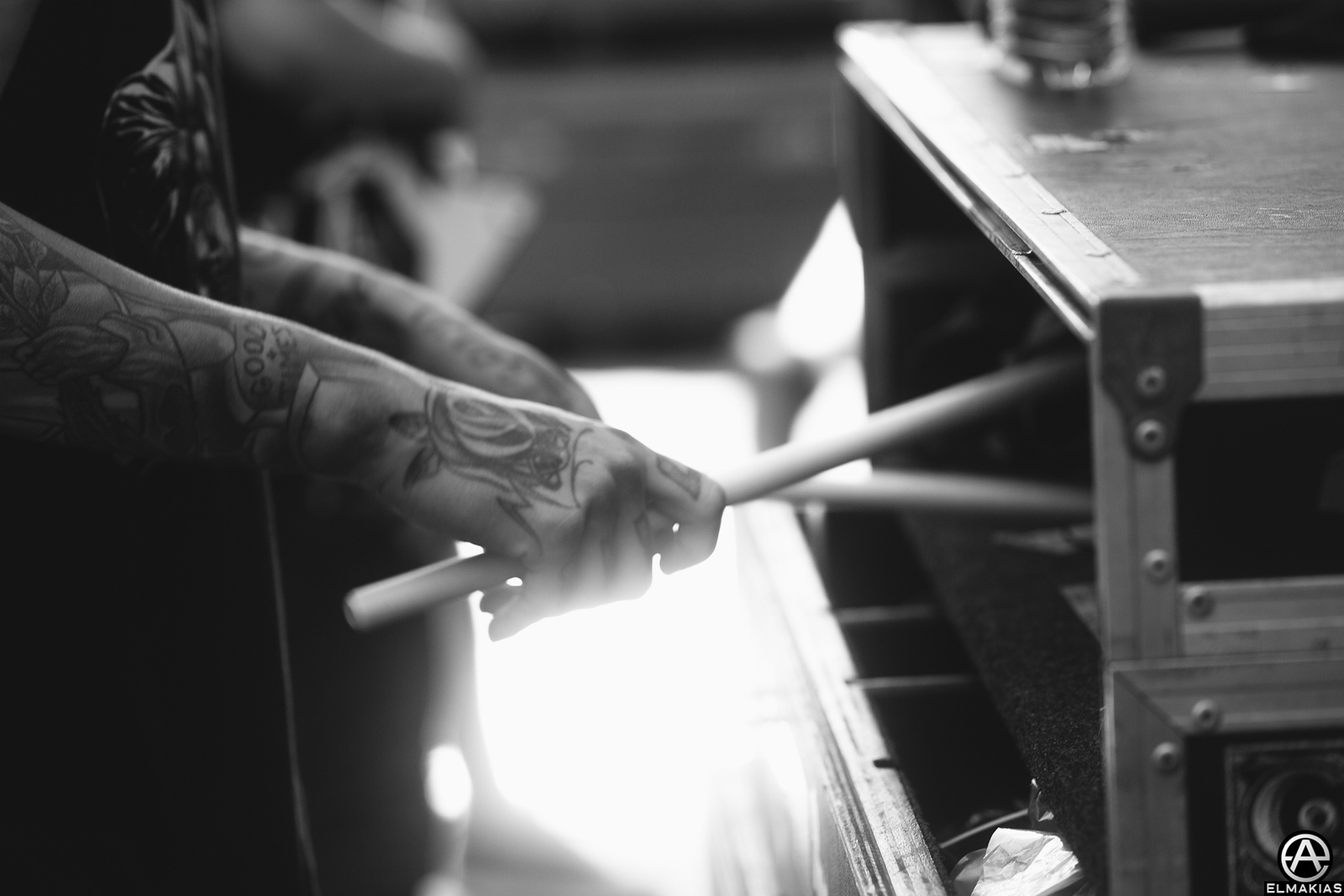 Vic Fuentes of Pierce the Veil at Warped Tour 2015 by Adam Elmakias