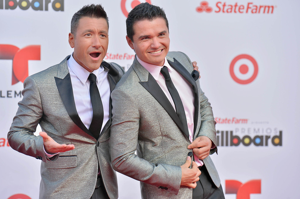 . MIAMI, FL - APRIL 25:  Jorge Bernal and Horacio Palencia arrive at Billboard Latin Music Awards 2013 at Bank United Center on April 25, 2013 in Miami, Florida.  (Photo by Gustavo Caballero/Getty Images)