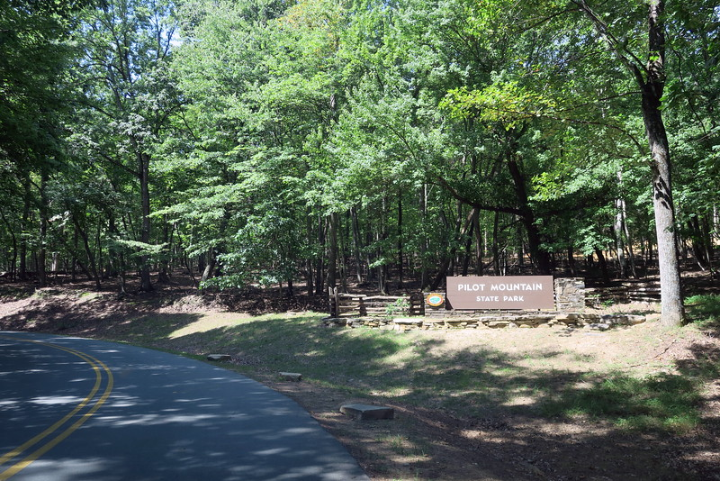 Pilot Mountain State Park Entrance