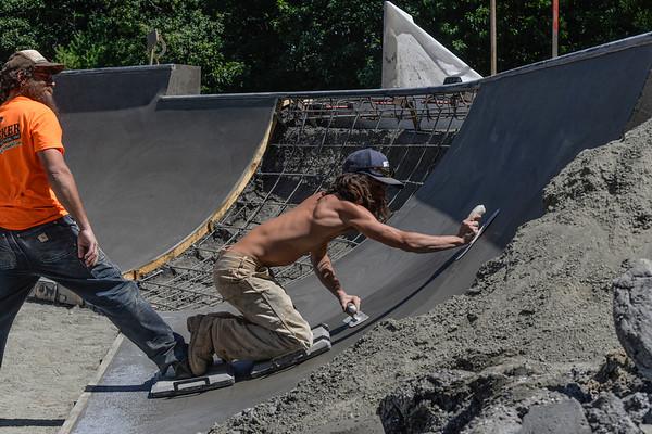 Pouring concrete - 082020
