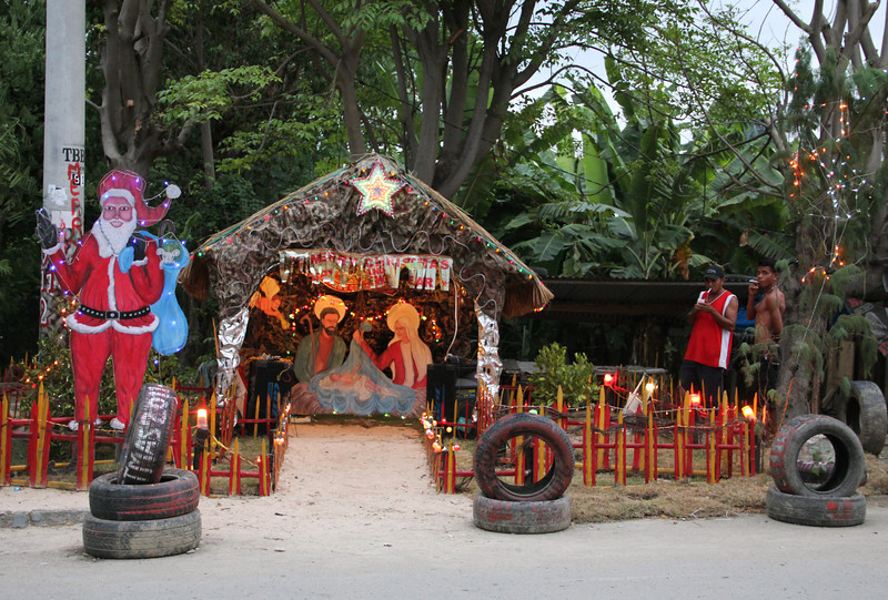 for the holidays, each block erected these handmade nativity scenes around dili, and beyond.