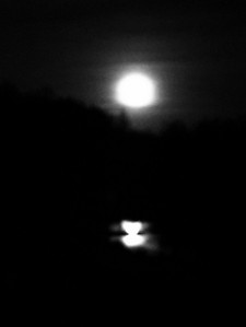 Thanksgiving 2015 - Moonlight over the Lake