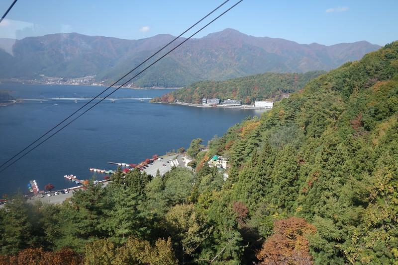 View of Lake Kawaguchi from Mount Kachi Kachi cable car