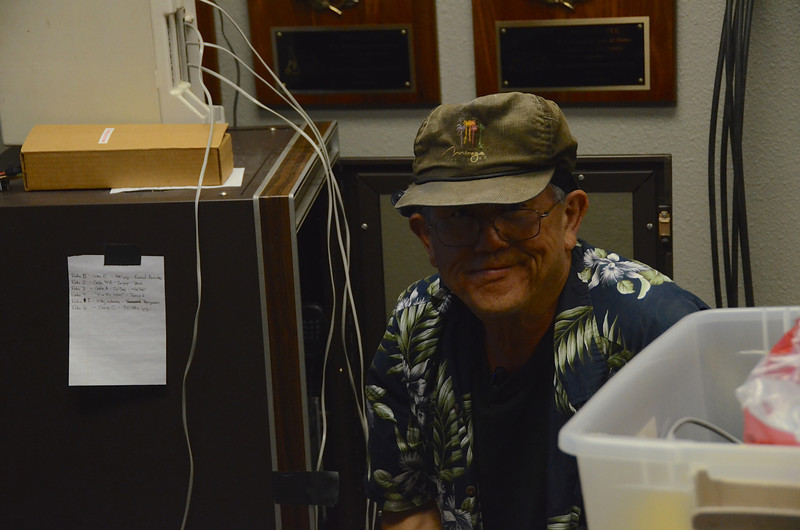 Dave Nishikawa (KC6YFG) coordinates radio communications for the DC