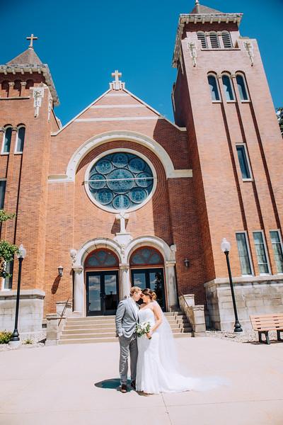 Mr & Mrs Outside Church