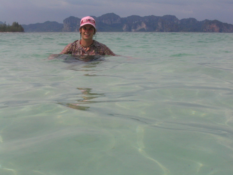 Tropical swim at Chicken Island