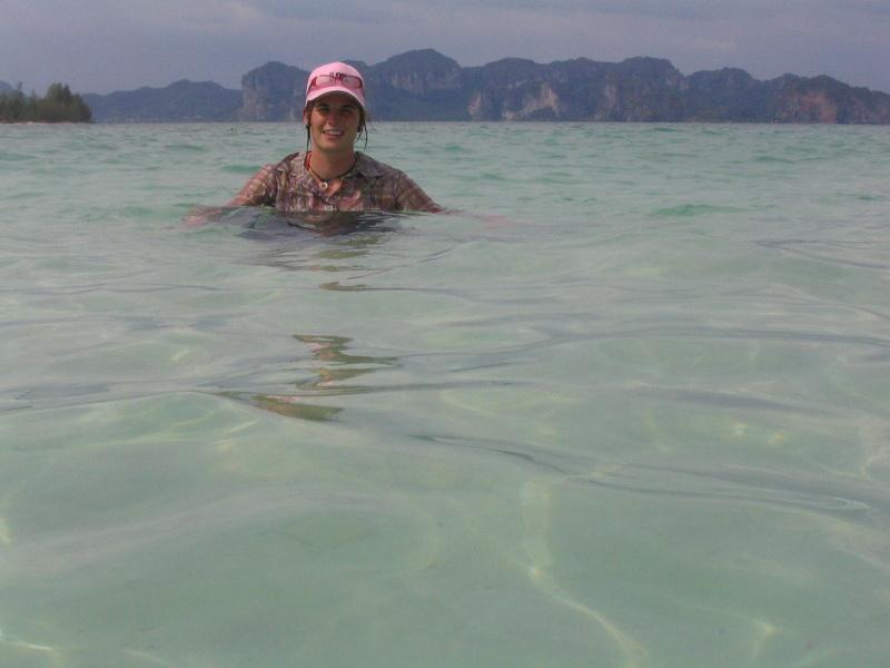 Tropical swim at Chicken Island