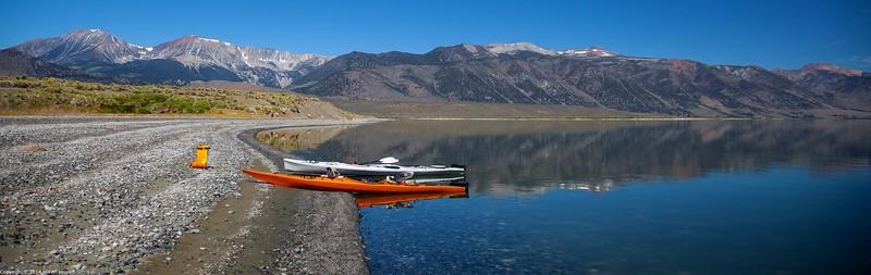 Kayaking on Mono Lake
