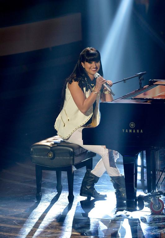 . AMERICAN IDOL XIII: Jena Irene performs on AMERICAN IDOL XIII airing Wednesday, April 16 (8:00-10:00PM ET /PT) on FOX. CR: Frank Micelotta / FOX. Copyright 2014 / FOX Broadcasting.