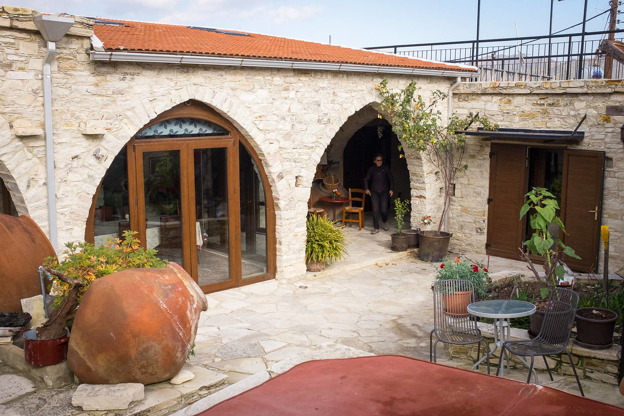 The courtyard at 'Our House' | Vavla, Cyprus