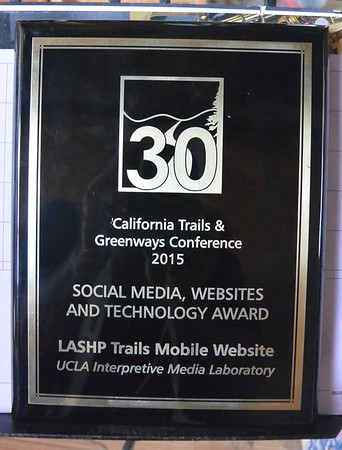 2015/4 California Trails and Greenways Conference Award