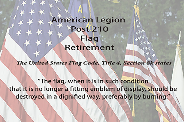 Post 210 Flag Retirement