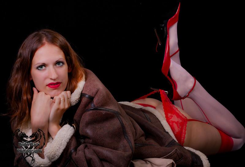 Bomber red heels