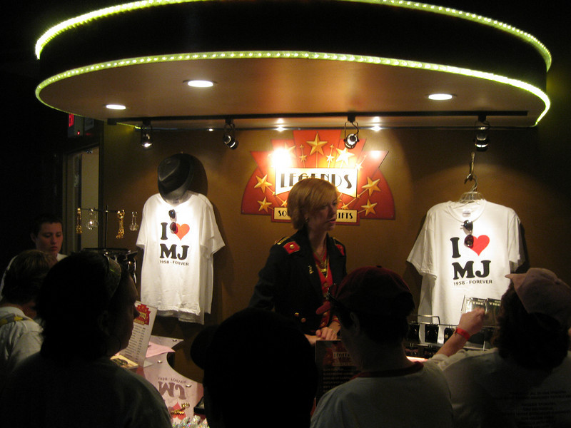 The Dancehall Theater souvenir stand.