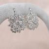 Snowflake-Motif Diamond Earrings 1