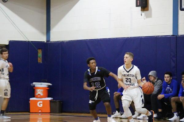 Boys' basketball game against Princeton Day School