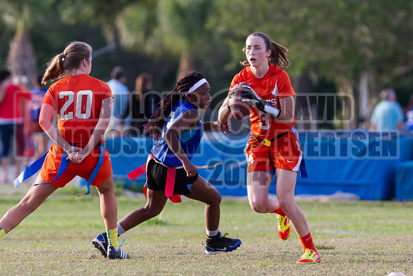 Apopka Blue Darters @ Boone Braves Girls Varsity Flag Football  - 2014