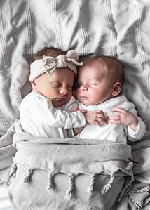 Newborn twins photographs San Diego