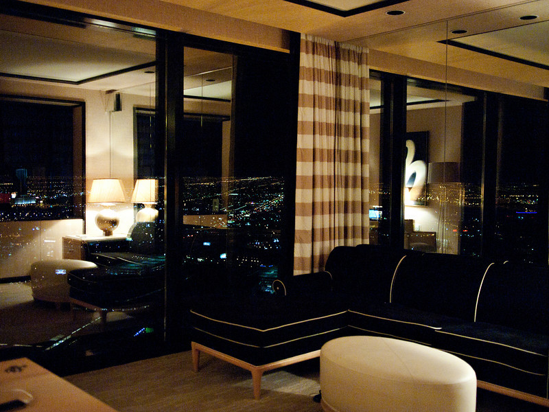 Living room at the Encore.