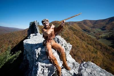 28599 WVU Mountaineer Jonathan Kimble Seneca Rocks October 2012