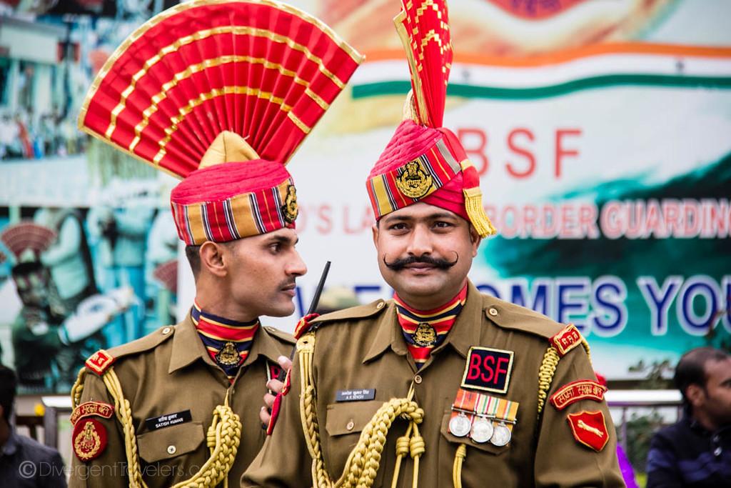 India photos Waga Border