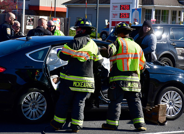 11/2/2019 Mike Orazzi | StaffrOne person had to extricated from a Ford Fusion after it was involved in a crash with a Cadillac SRX4 on Middle Street near the intersection with Pine Street in Bristol on Saturday. No further information was available. rr