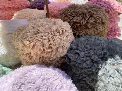 Flokati65センチ羊毛・35センチサイズ直径flokati 羊毛・約40センチ直径Flokati 羊毛