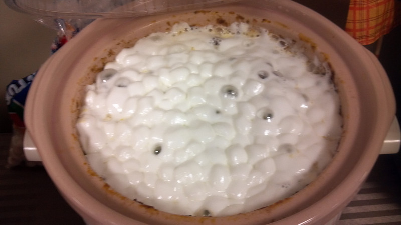 Sweet Potato Casserole. With Marshmallows.