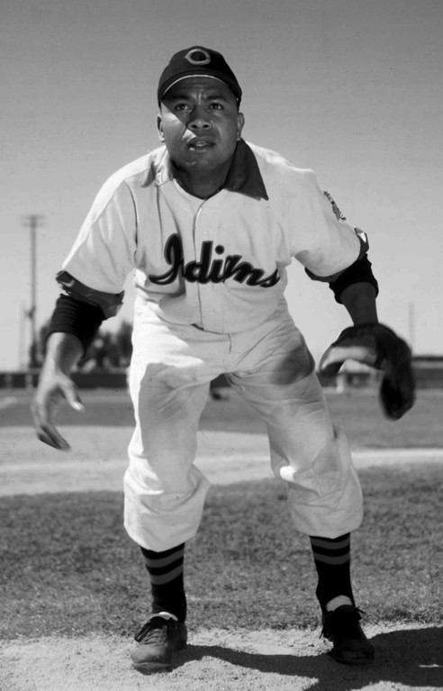 . A March 1951 photo of Cleveland Indians outfielder Larry Doby. (AP Photo)
