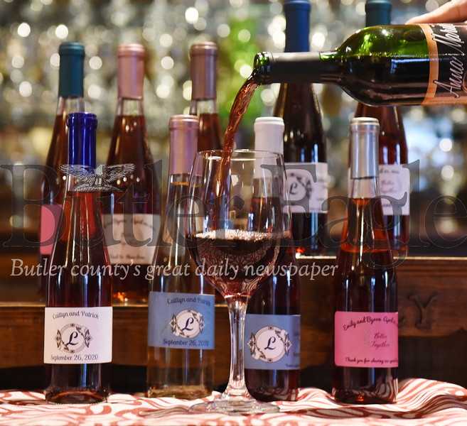 Harold Aughton/Butler Eagle: Anna Marie's Winery in East Butler offers customized wine labels for weddings.