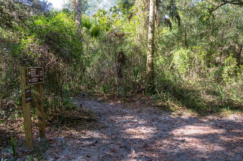 Florida/Barr Street Access Trail Junction