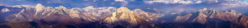 Panorama sulle vette dal Colle dei Larici -foto n° 211007-848918