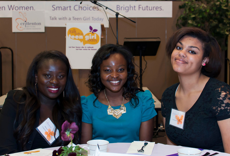 Mamawa, Edinam and Abbie, Crittenton Ambassadors had a good day!
