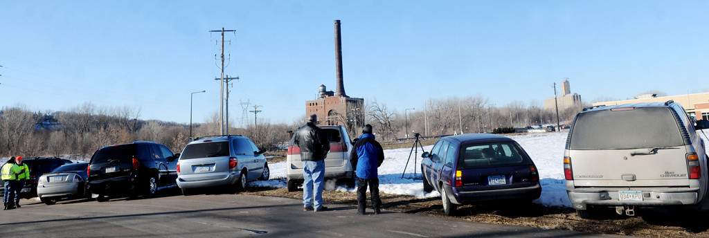 . One hour before the Island Station coal plant was destroyed with explosives.  (Pioneer Press: Sherri LaRose-Chiglo)